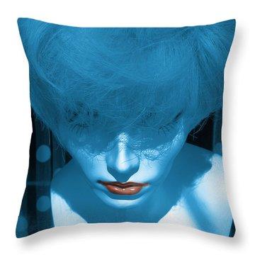 Blue Kiss Throw Pillow by David Pantuso