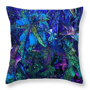 Throw Pillow featuring the photograph Blue Leaf by Steven Lebron Langston