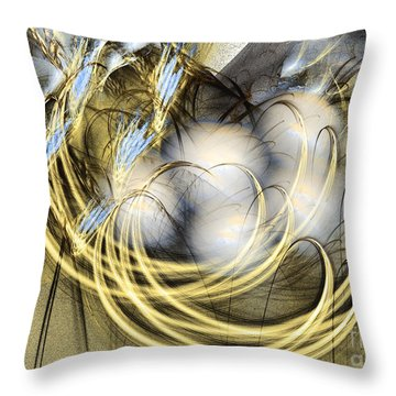 Blue Lullaby - Abstract Art Throw Pillow