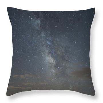 Blue Milky Way Throw Pillow