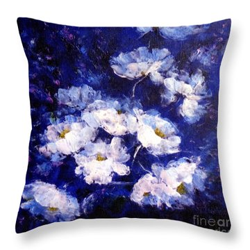 Blue Mood Throw Pillow by Madeleine Holzberg