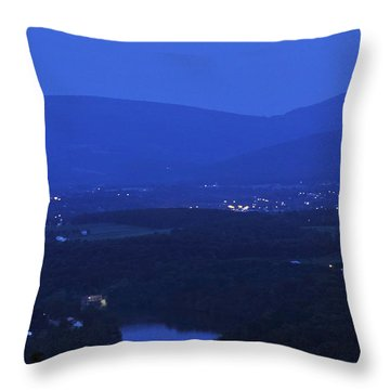 Blue Moon Throw Pillow by Lara Ellis