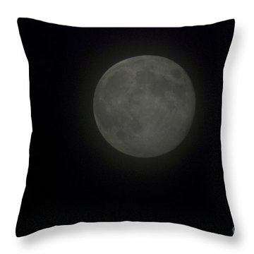 Blue Moon Throw Pillow by Thomas Woolworth
