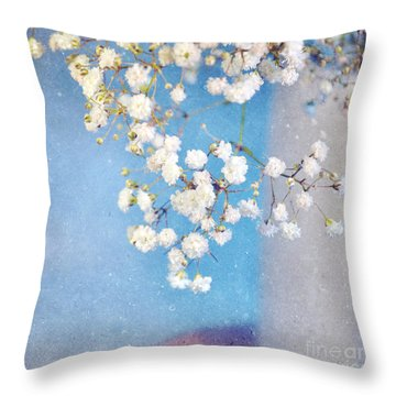 Blue Morning Throw Pillow by Lyn Randle