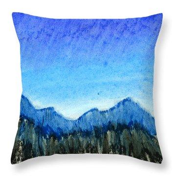 Blue Mountains Throw Pillow by Hakon Soreide