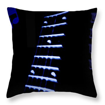 Blue Note Throw Pillow by Bill Cannon