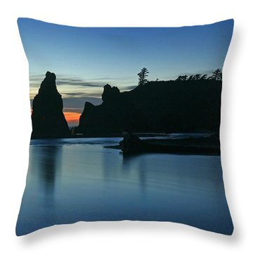 Blue On Blue Throw Pillow by Winston Rockwell