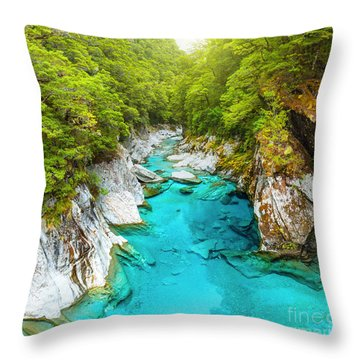 Blue Pools Throw Pillow by MotHaiBaPhoto Prints