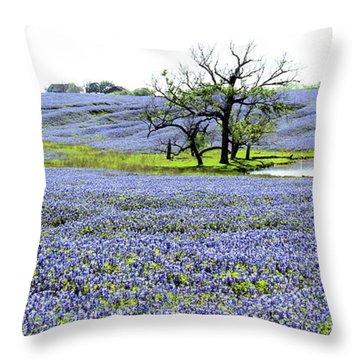 Blue Pride Throw Pillow