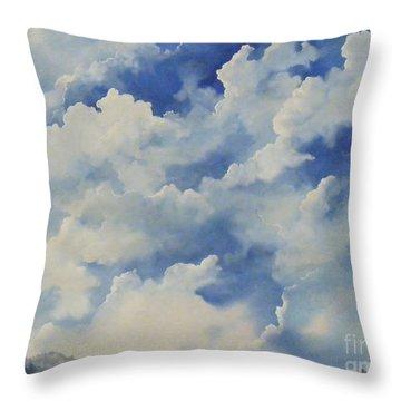 Blue Ridge Vista...sold  Throw Pillow