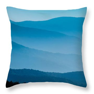 Blue Ridges Panoramic Throw Pillow