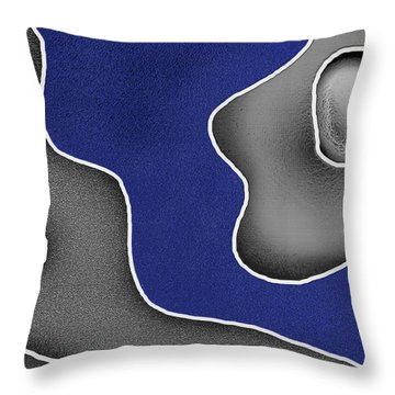 Throw Pillow featuring the digital art Blue River by Maciek Froncisz