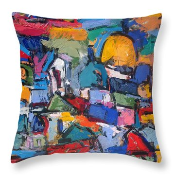 Blue Rome Throw Pillow