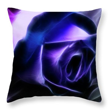 Throw Pillow featuring the photograph Blue Rose by Joan Bertucci