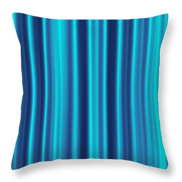 Throw Pillow featuring the digital art Blue Screen by Jeff Iverson