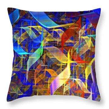 Blue Shift Throw Pillow by Kim Sy Ok