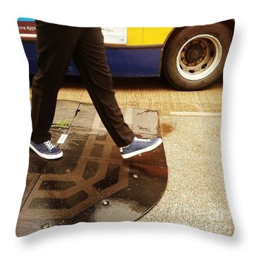 Blue Shoes Throw Pillow