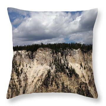 Throw Pillow featuring the photograph Blue Skies And Grand Canyon In Yellowstone by Living Color Photography Lorraine Lynch