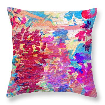 Blue Skies And Magic Pots Throw Pillow by Rachel Christine Nowicki