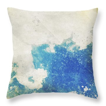 Blue Sky And Cloud On Old Grunge Paper Throw Pillow by Setsiri Silapasuwanchai
