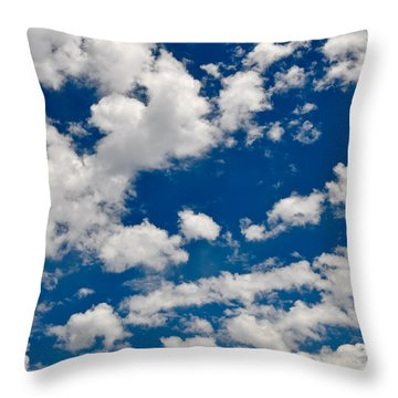 Blue Sky And Clouds Throw Pillow