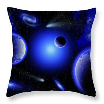 Blue Stars Are Amongst The Youngest Throw Pillow
