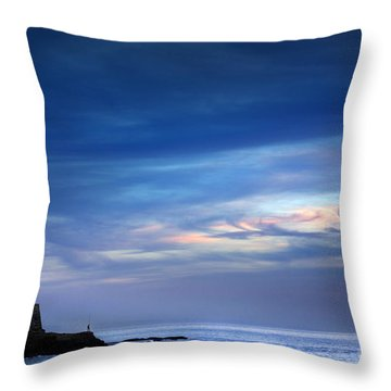 Blue Storm Throw Pillow by Carlos Caetano
