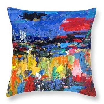 Blue Toscano 03 Throw Pillow