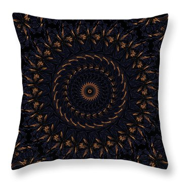 Blue Velvet 4 Throw Pillow by Rhonda Barrett