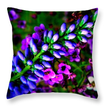 Blue Veronica Throw Pillow