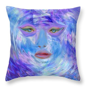 Blue Waters Throw Pillow by Kelly Turner