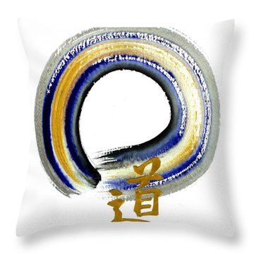 Blue Way Throw Pillow by Ellen Miffitt