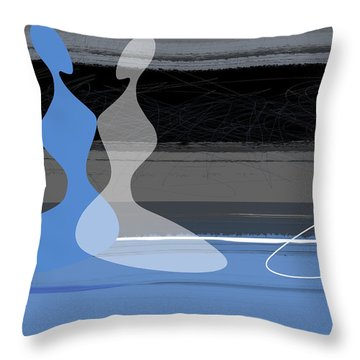 Blue Women Throw Pillow