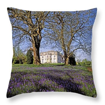 Bluebells In The Pleasure Grounds, Emo Throw Pillow by The Irish Image Collection