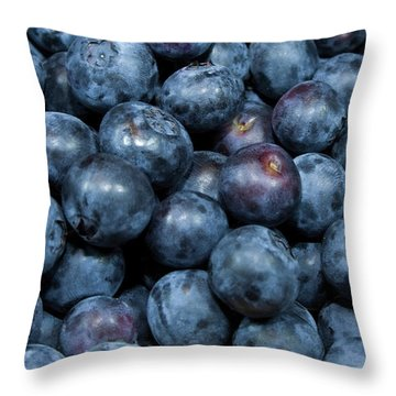 Blueberries Throw Pillow by Michael Waters