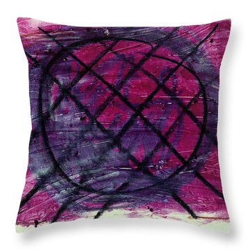 Blueberry Pie Throw Pillow by Patrick Morgan