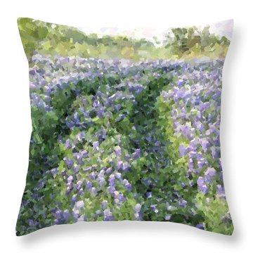 Throw Pillow featuring the photograph Bluebonnet Trail by Donna  Smith