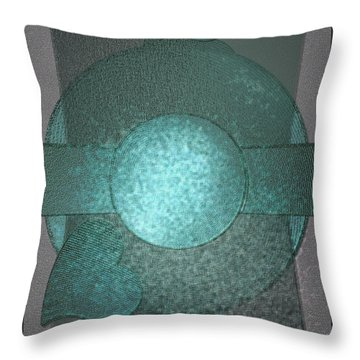 Bluecards Throw Pillow