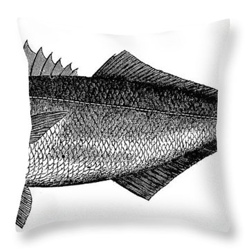 Bluefish Throw Pillow by Granger