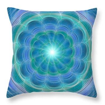 Bluefloraspin Throw Pillow