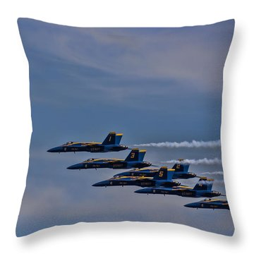 Throw Pillow featuring the photograph Blues by David Gleeson