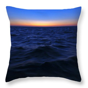 Bluewater Sunset Throw Pillow by Gary Eason