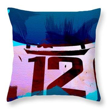 Bmw Racing Watercolor Throw Pillow