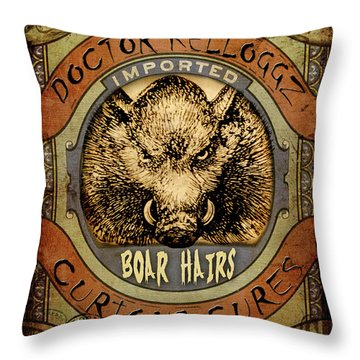 Boar Hairs  Throw Pillow by Nada Meeks