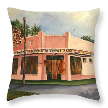 Boarded Memories Revisited Throw Pillow