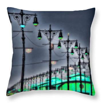 Throw Pillow featuring the photograph Boardwalk Lights by Chris Lord