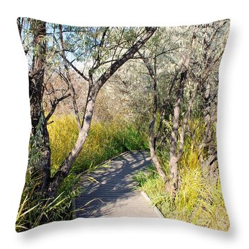 Boardwalk To The Birds Throw Pillow by John  Greaves