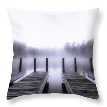 Boat House Throw Pillow by Mary Sparrow