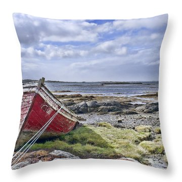Throw Pillow featuring the photograph Boat by Hugh Smith
