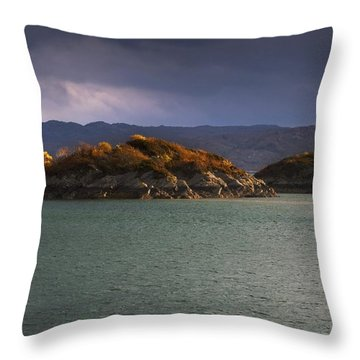 Boat On Loch Sunart, Scotland Throw Pillow